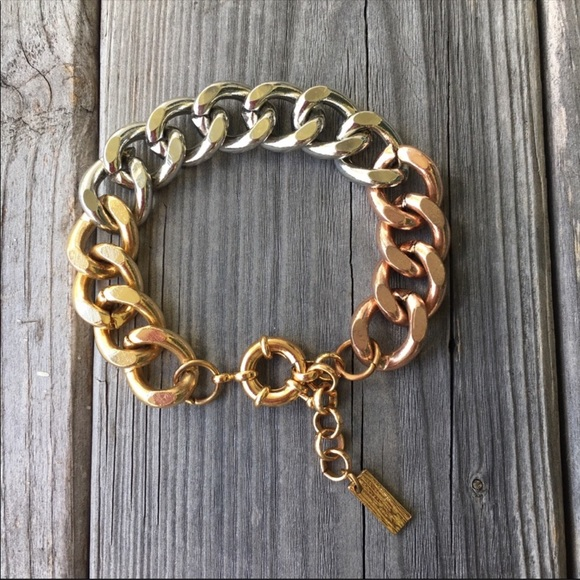 Vintage Luvaj Tri Colored Chain Link Bracelet